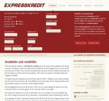 Expresskredit.se erbjuder sms-lån