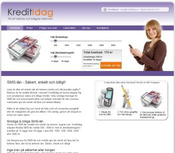Kreditidag.se erbjuder smslån