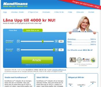 Kundfinans.se erbjuder sms-lån