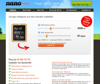 Nanokredit.se erbjuder mikrolån