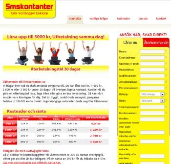 Smskontanter.se erbjuder mikrolån